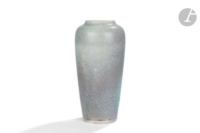 ERNEST CHAPLET (1835-1909 )Haut vase balustre...