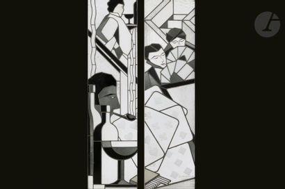 HIPPOLYTE PAQUIER-SARRASIN (1882-1961 )Scène...