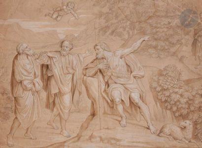 École FRANÇAISE du XVIIe siècle  Saint Jean-Baptiste prêchant dans le désert d'après...