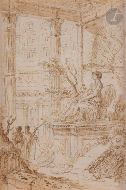 Entourage de Giovanni Paolo PANINI  Ruines...
