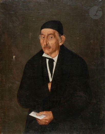 ÉCOLE ITALIENNE du XIXe siècle  Portrait...