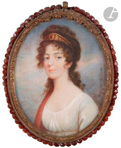 ÉCOLE FRANÇAISE du XIXe siècle  Portrait...