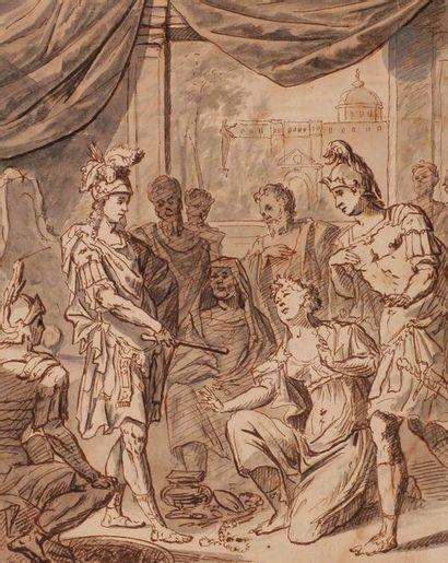 Arnold HOUBRAKEN (1660-1719)  Scène d'histoire...