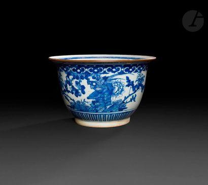 Chine  Jardinière circulaire en porcelaine...