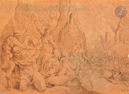 ÉCOLE FLAMANDE du XVIIe siècle,  D'APRES...