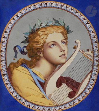 PICHENOT-LŒBNITZ  Portrait de jeune homme...