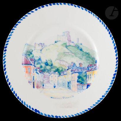 Manzana Pissarro sur porcelaine  Assiette...