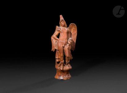 Statuette de Ganymède en terre cuite.  Dans...