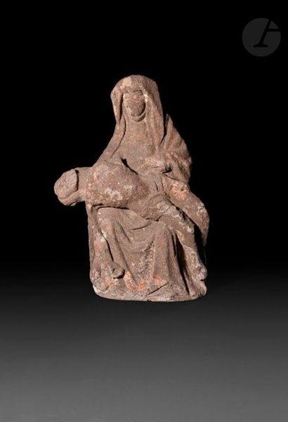 France, XVe siècle  Pietà  Sculpture en granit...