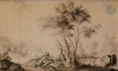 ÉCOLE FRANÇAISE du XVIIIe siècle  Une paire...