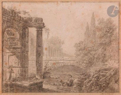 Simon-Mathurin LANTARA (1729-1778)  Paysage...