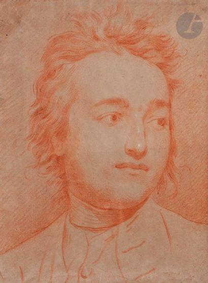 ÉCOLE FRANÇAISE vers 1780  Portrait d'homme...