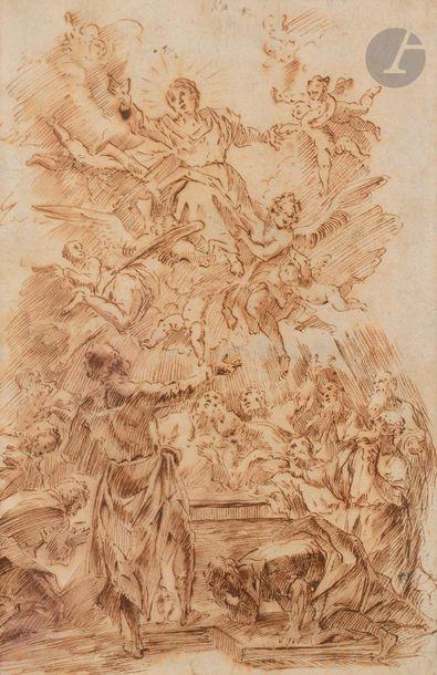ÉCOLE BOLONAISE du XVIIe siècle  L'Assomption...