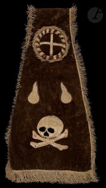 Manipule de funérailles en velours noir et...