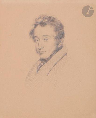 Achille DEVERIA (1800-1859)  Portrait d'homme...