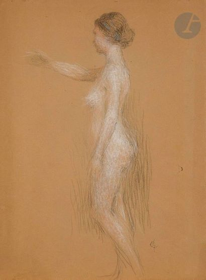 Ernest LAURENT (1859-1929)  Étude de femme...