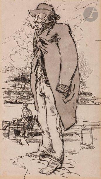 Auguste Louis LEPERE (1849-1918)  Le Débardeur...