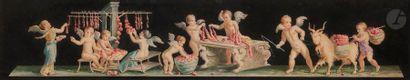 Attribué à Vicenzo BISOGNO (1866-?)  Trois...