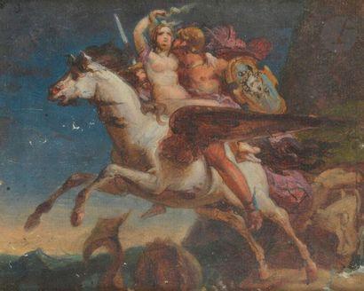 ÉCOLE ROMANTIQUE  Persée délivrant Andromède...