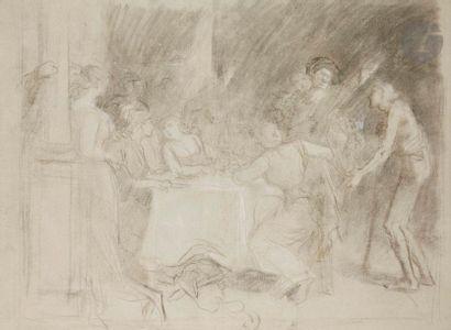ÉCOLE FRANÇAISE du XIXe siècle  Scène de...