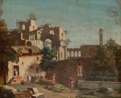ÉCOLE VENITIENNE vers 1770,  suiveur de Marco...
