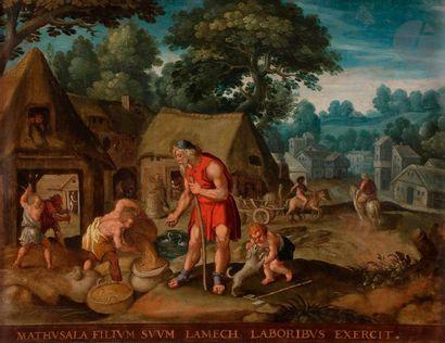 ÉCOLE FLAMANDE vers 1630,  suiveur de Martin...