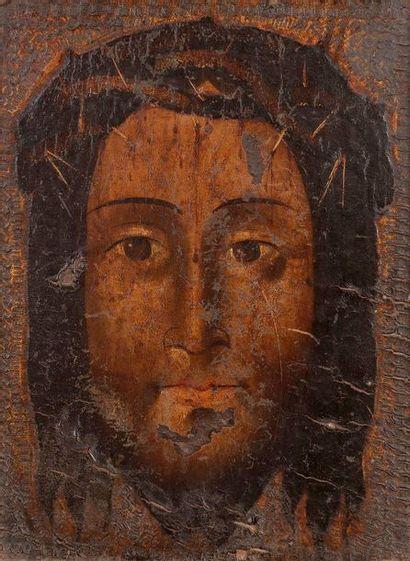 ÉCOLE ESPAGNOLE vers 1600  La sainte face...