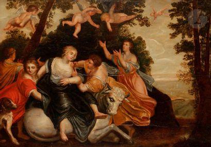 ÉCOLE FLAMANDE du XVIIe siècle,  suiveur...