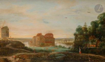 Attribué à Adriaen Van STALBEMPT  (1580-1662)...