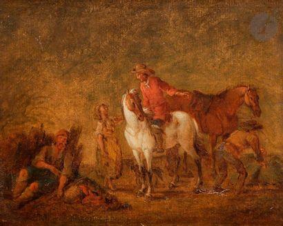 Attribué à August QUERFURT  (1696-1761)  Cavalier...