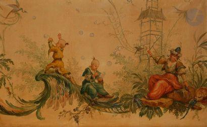 Dans le goût de Jean-Baptiste PILLEMENT  Chinoiserie...