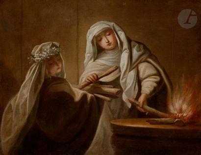 Atelier de Jean RAOUX (1677-1734)  Vestales...