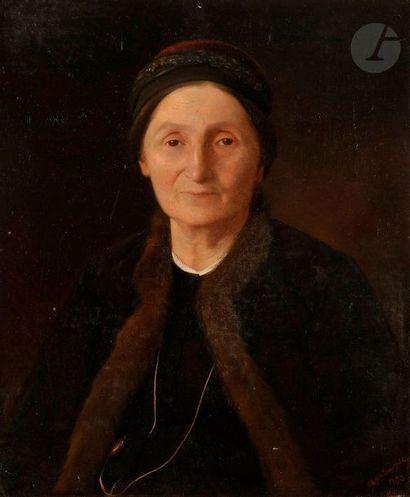 Melkon DIRATSOUYAN  (1836-1904)  Portrait...