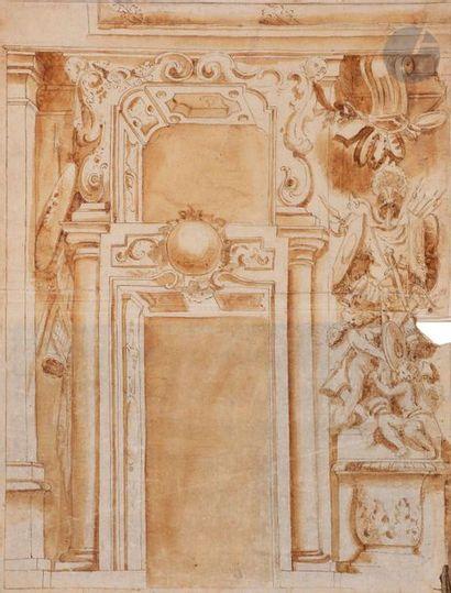 ÉCOLE BOLONAISE du XVIIIe siècle  Intérieur...