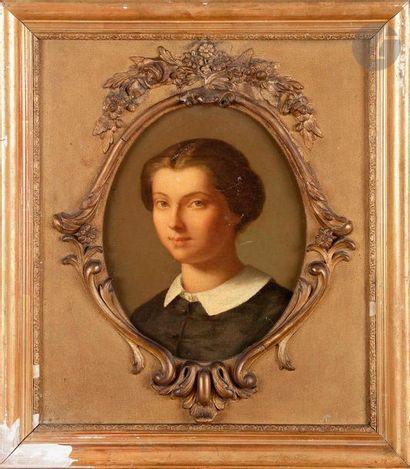 ÉCOLE FRANÇAISE vers 1860  Portrait de Rose-Félicie-Berthe-Thomas...