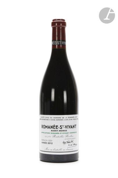 1 B ROMANÉE ST-VIVANT (Grand cru), Domaine de la Romanée Conti, 2012