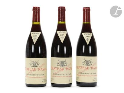 3 B CHÂTEAUNEUF DU PAPE Rouge, Château Rayas, 2005