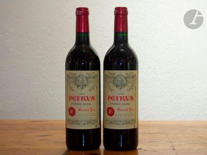 2 B PETRUS (étiquettes avec 1 accroc léger...