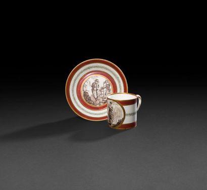 Sèvres  Gobelet litron et sa soucoupe en...