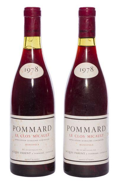 2 B POMMARD LE CLOS MICAULT (1er Cru) (e.t.h...