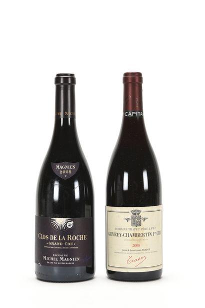 1 B CLOS DE LA ROCHE (Grand Cru) e.l.a., Michel Magnien, 2008 1 B GEVREY-CHAMBERTIN...