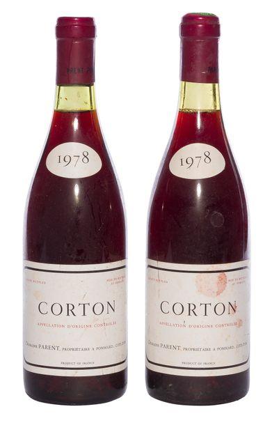 2 B CORTON (Grand Cru) (e.t.h ; 1 capsule...