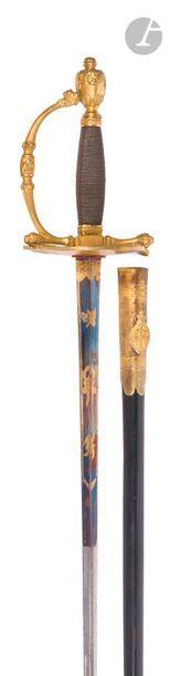 Épée de service à pied de mousquetaire