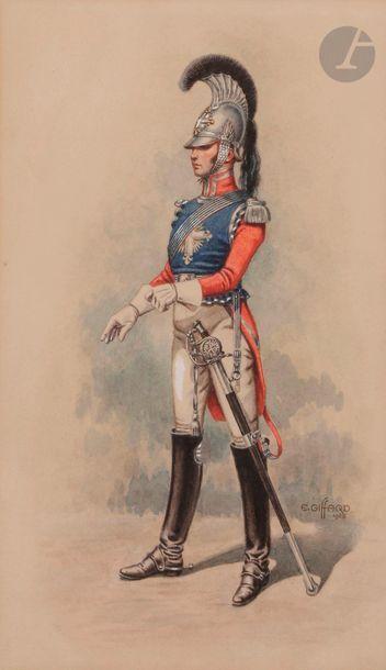 E. GIFAR, école française du XXe siècle  Mousquetaire...