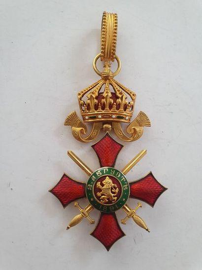 BULGARIE ORDRE DU MÉRITE MILITAIRE Croix...