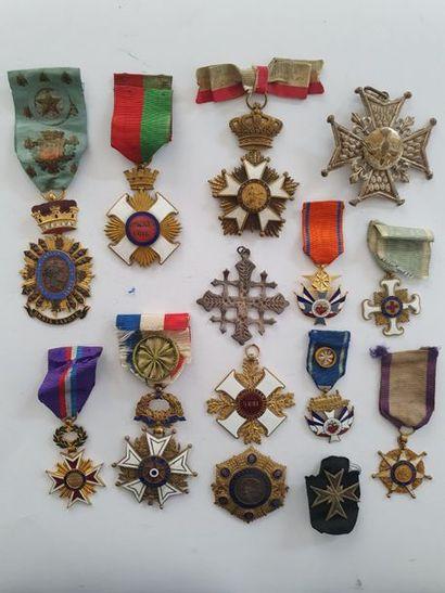 JURY – CONGRÉGATIONS Ensemble de dix médailles...