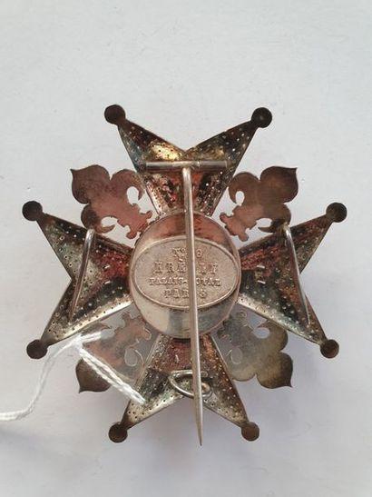 ESPAGNE ORDRE DE CHARLES III, créé en 1771. Plaque de commandeur du nombre en argent...
