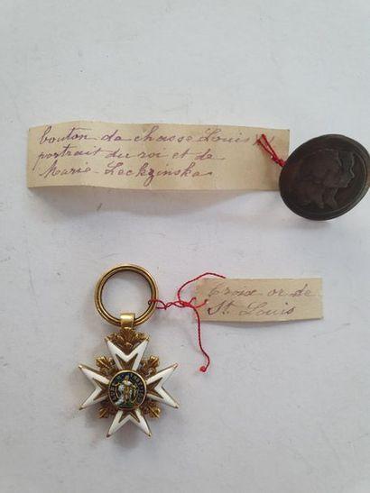 FRANCE ORDRE DE SAINT-LOUIS Croix de chevalier...