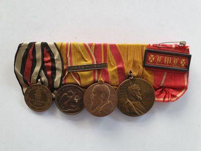 ALLEMAGNE – BADE Ensemble de 4 médailles...