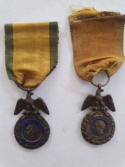 FRANCE MÉDAILLE MILITAIRE Deux médailles...